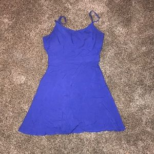 American eagle royal blue fit and flair dress